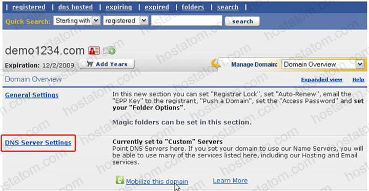 การเปลี่ยน Nameserver สำหรับ Domain ที่จดทะเบียนกับ enom com