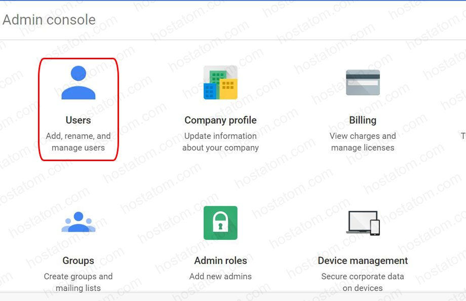 how to get to the g suite admin console