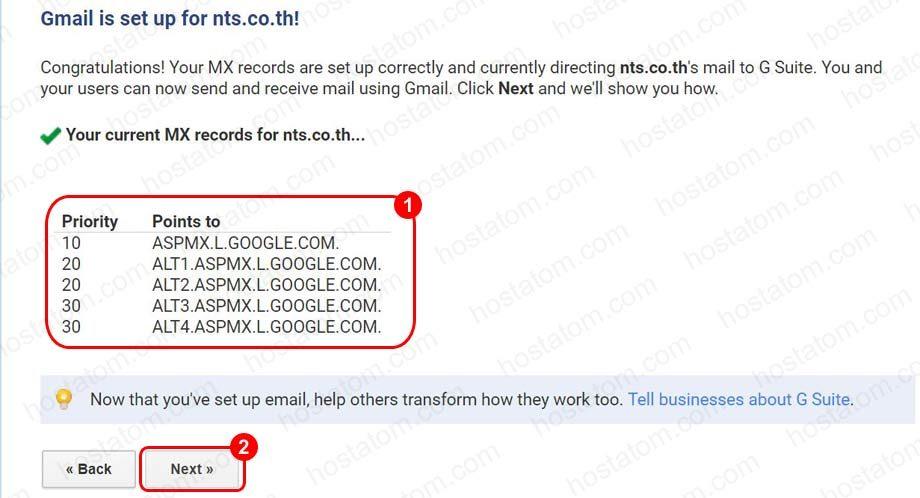 วิธีการเข้า Google Apps เพื่อนำค่า MX Mail มาติดตั้ง